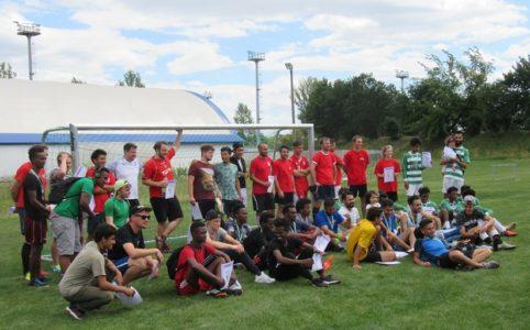 2. Interkulturelles Fussballtunier im Stadion des Friedens. Insgesamt beteiligten sich sieben Mannschaften von vier Kontinenten. Foto: Andreas Praße