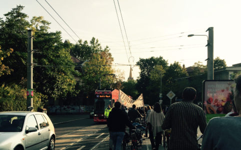 2. Fahrrad-Schibe-Demo am 22.9.2017 in Gohlis
