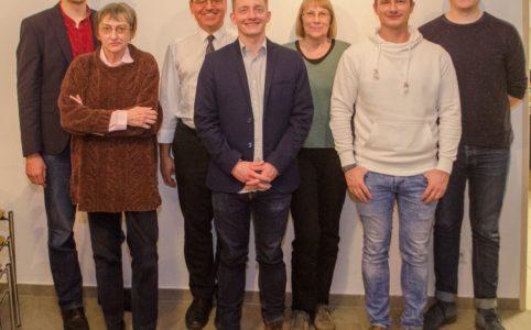 Der neue Vorstand beim Bürgerverein Gohlis e. V. (v.l.n.r.): Matthias Reichmuth, Ursula Hein, Michael Wagner, Hannes Meißner, Marianne Auth, Tino Bucksch und Willam Rambow.