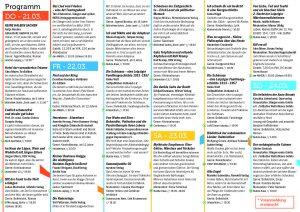 Überblick Programm für das Lesefestival Leipzig liest an Leipzigs längster Straße 2019